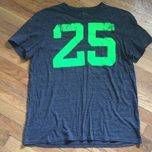 Gray and lime green American Eagle T-shirt